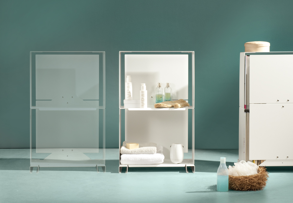 Rangement design mauro canfori - Cube de rangement salle de bain ...